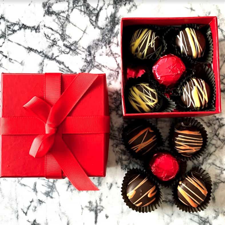 Malibu's Red Box Dark Chocolate Creams